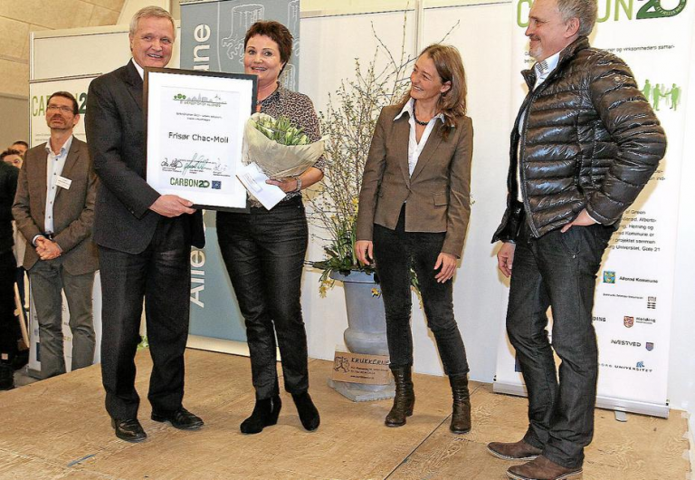 Tina Burchhardt Jensen modtager prisen carbon20 i Allerød